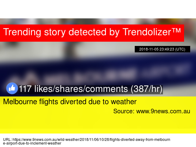 Melbourne flights diverted due to weather