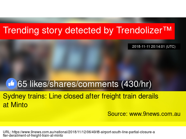 Sydney trains: Line closed after freight train derails at Minto