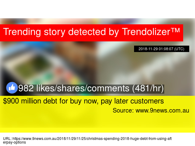 $900 million debt for buy now, pay later customers