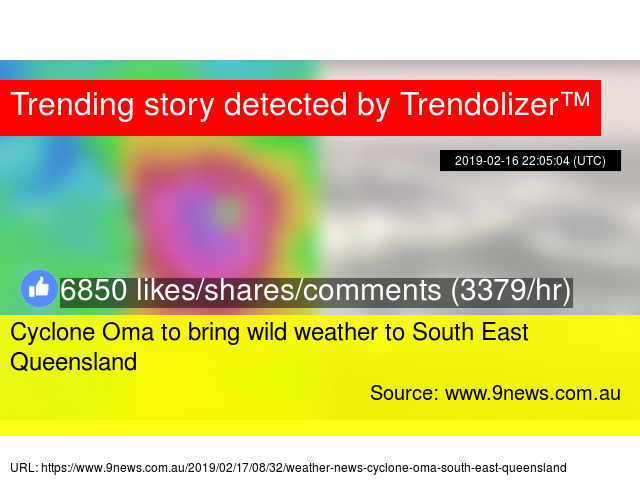 Cyclone Oma to bring wild weather to South East Queensland