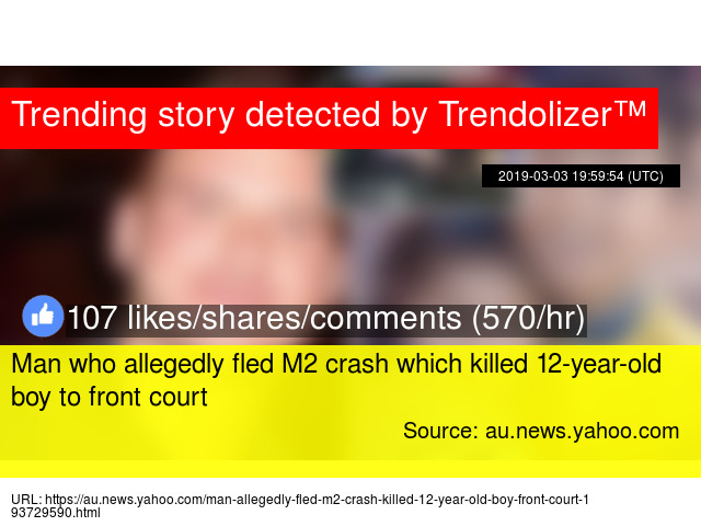 Man who allegedly fled M2 crash which killed 12-year-old boy to
