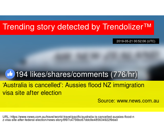Australia is cancelled': Aussies flood NZ immigration visa