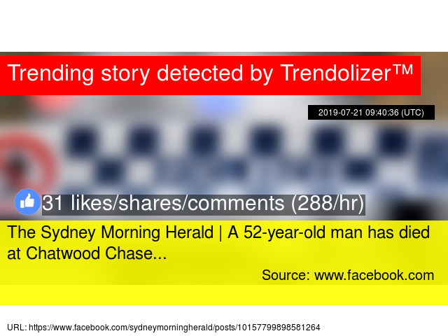 The Sydney Morning Herald   A 52-year-old man has died at