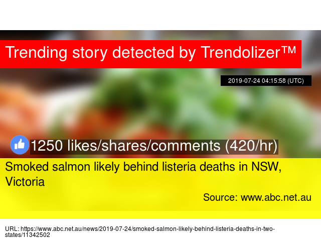 Smoked salmon likely behind listeria deaths in NSW, Victoria
