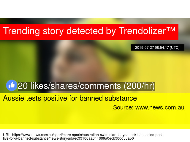 Aussie tests positive for banned substance