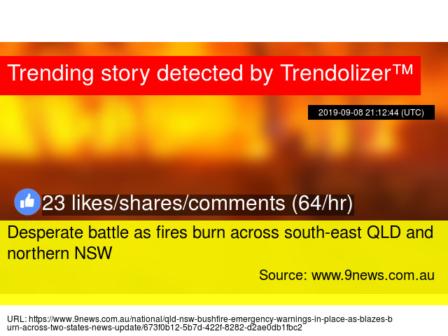 Desperate battle as fires burn across south-east QLD and
