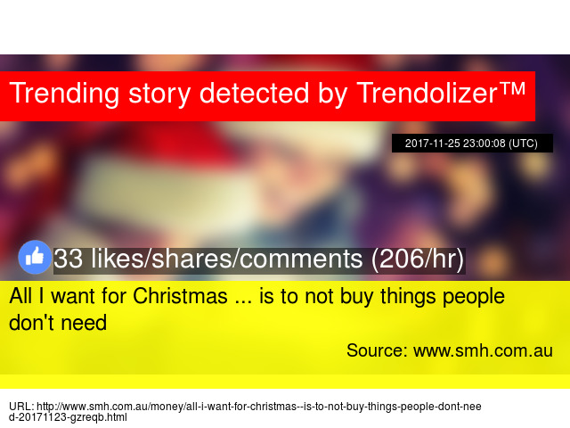 all i want for christmas is to not buy things people dont need