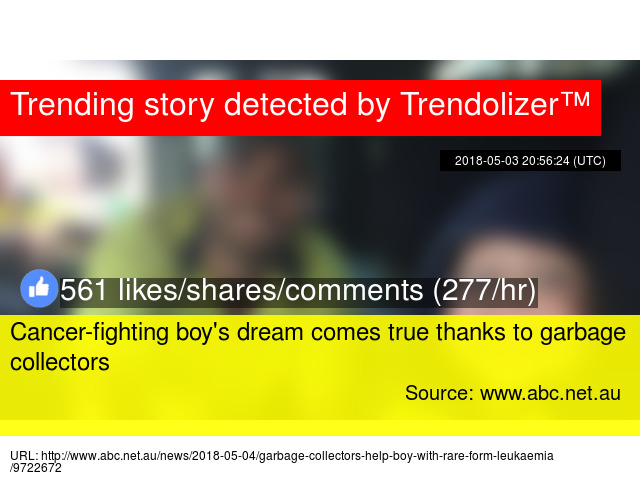 Cancer Fighting Boys Dream Comes True Thanks To Garbage Collectors