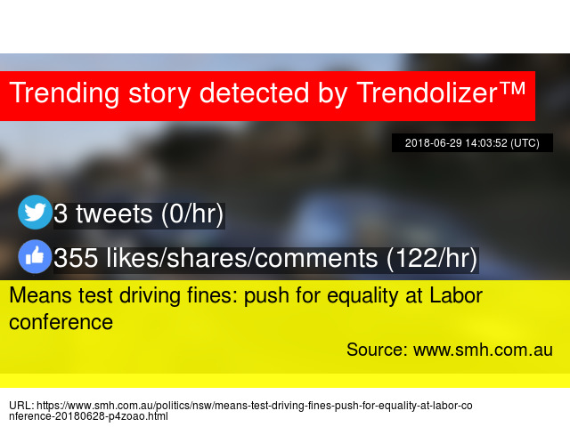 means test driving fines push for equality at labor conference