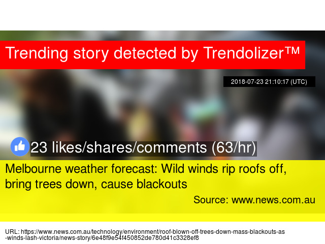 Melbourne weather forecast: Wild winds rip roofs off, bring trees