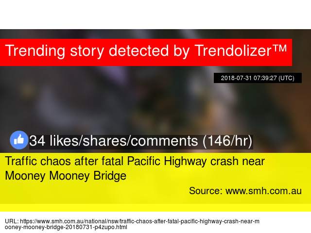 Traffic chaos after fatal Pacific Highway crash near Mooney